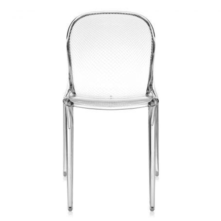 Thalya Chair in Crystal - Front View
