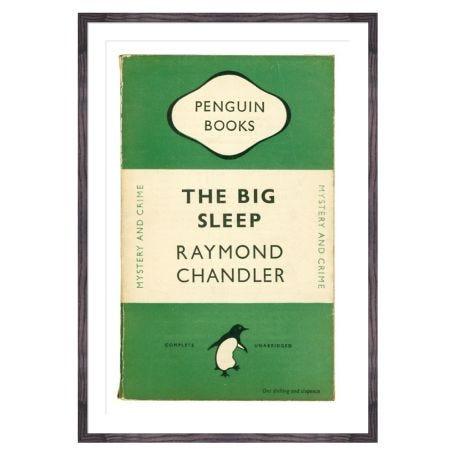 The Big Sleep Book Cover Penguin Books Framed Print