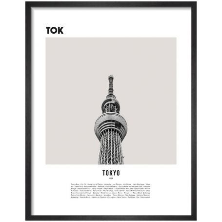 Tokyo by WK Fox Art Framed Print