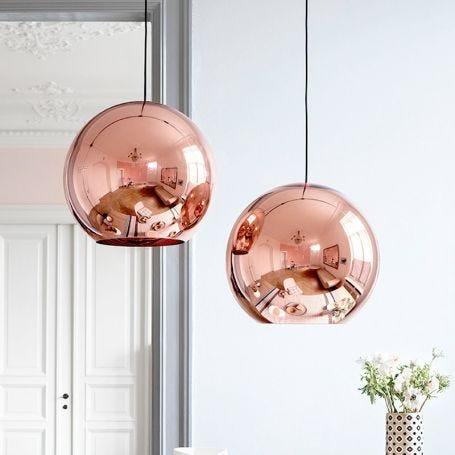 Copper Round Pendant Light