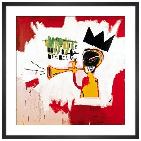 Trumpet by Jean-Michel Basquiat Framed Print