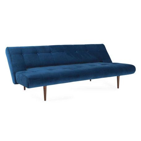 Hinge Luxe Sofa Bed Dessin Velvet Royal Blue