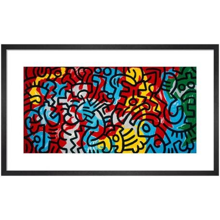 Untitled (Abstract), 1985 by Keith Haring Framed Print