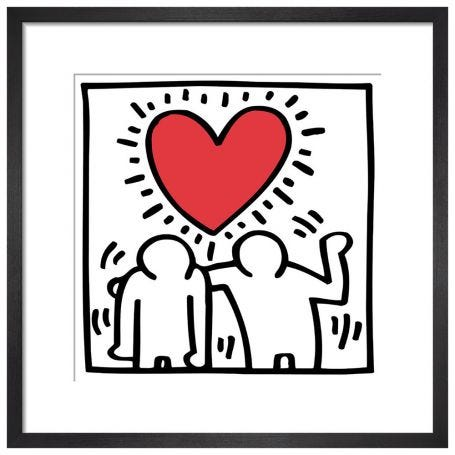 Untitled (Be Mine), 1987 by Keith Haring Framed Print