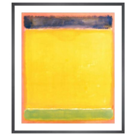 Untitled (Blue, Yellow, Green, Red) by Mark Rothko Framed Print