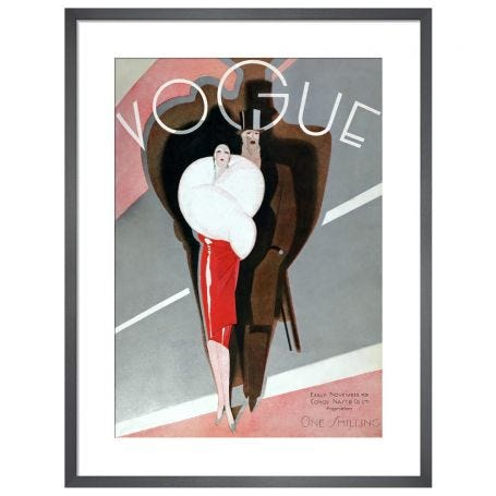 Vogue, Early November 1926 by Guillermo Bolin Framed Print