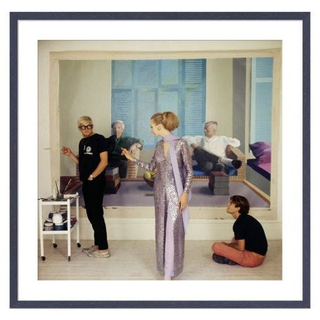 Vogue December 1968 by Cecil Beaton Framed Print