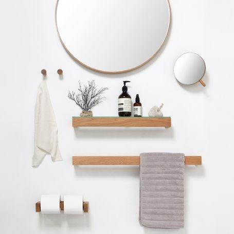 Slim Shelf Wood with Glass