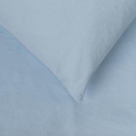 Washed Cotton Sky Blue Duvet Cover King