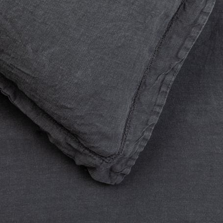 Washed Linen Bed Linen Charcoal