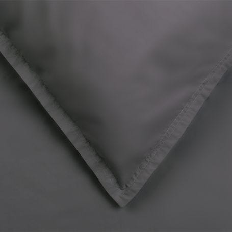 Washed Cotton Charcoal Duvet Cover Single