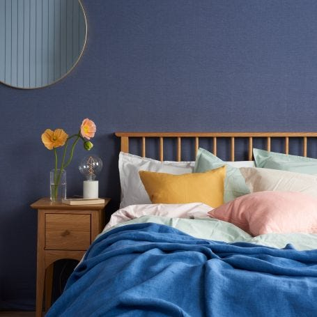 Washed Cotton Bed Linen Soft Blush