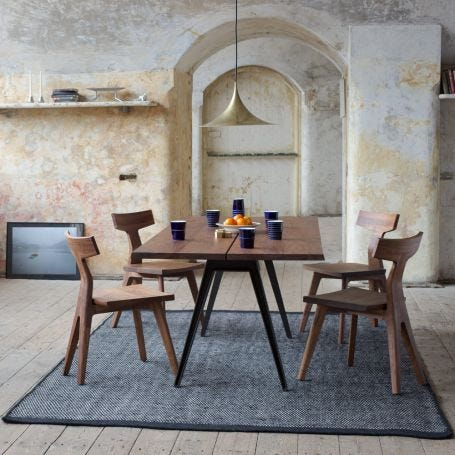 Welles Large Dining Table Danish Oiled Walnut