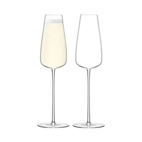 Wine Culture Champagne Flute Set of 2