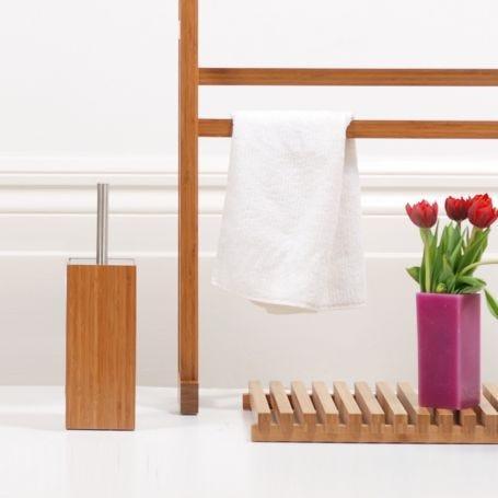 Wooden Toilet Brush and Holder