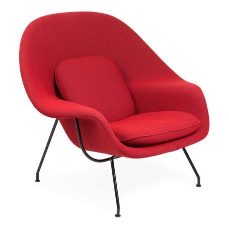 Womb Chair Relax Edition 18WE Red Black Frame