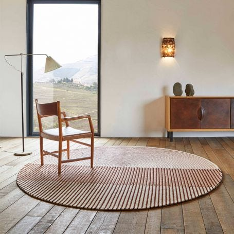 Ply Round Rug Pink