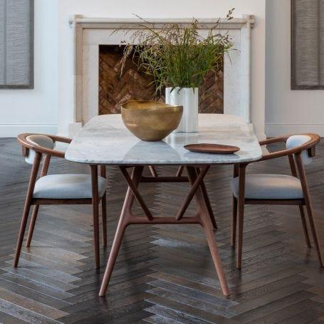 Anais Dining Chair Walnut Charcoal