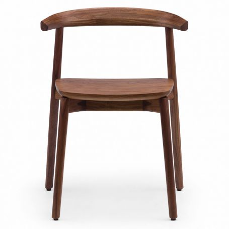 Ando Dining Chair in Danish Oiled Walnut - Front View