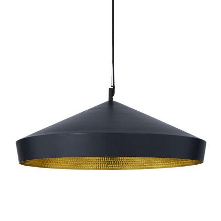 Beat LED Flat Pendant Light Black