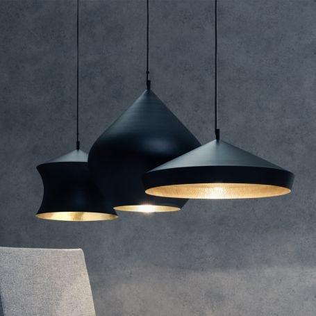Beat LED Waist Pendant Light Black