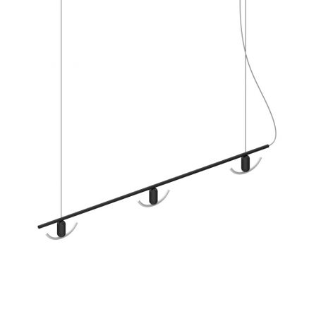 Beem Linear 3 Bulb Chandelier with Black Smile 02