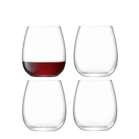 Borough Stemless Wine Glasses Set of 4
