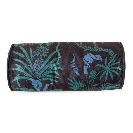 Velvet Bolster Cushion Botanize Heritage Blackberry