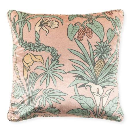 Botanize Heritage Velvet Cushion 50x50cm Plaster Pink