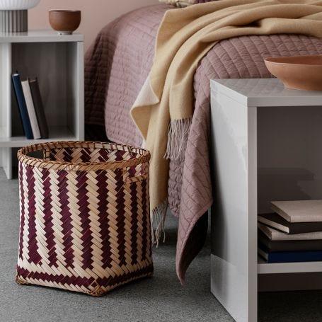 Meli Bamboo Stripe Baskets Set of 3