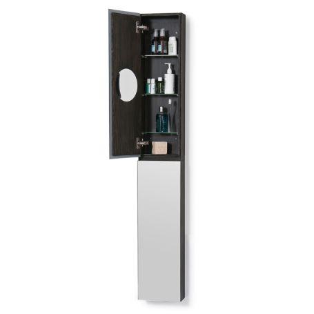 Slim Bathroom Cabinet with Mirror Tall