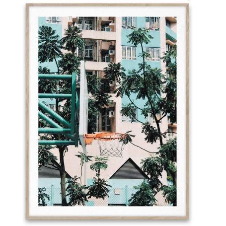 Cities of Basketball 01, Hong Kong Print 30 x 40cm