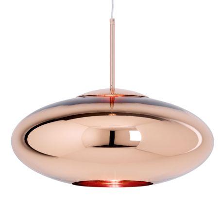 Copper LED Pendant Light Wide