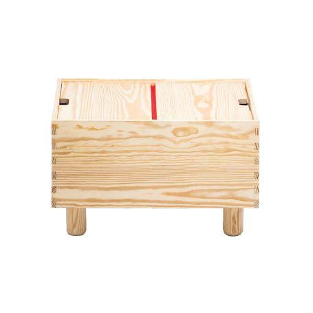 Crate Series No.1 Storage Cabinet Red Hinge