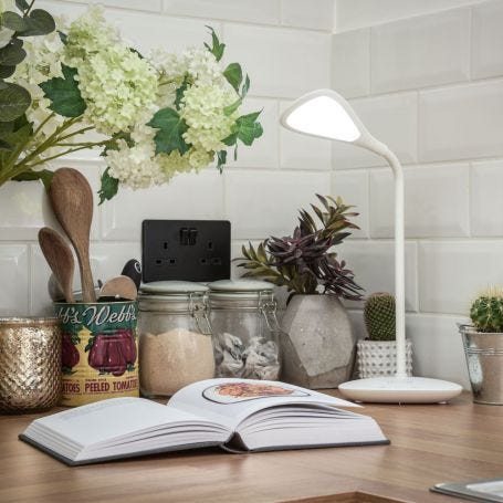 Elliptical LED Wireless Charging Desk Lamp