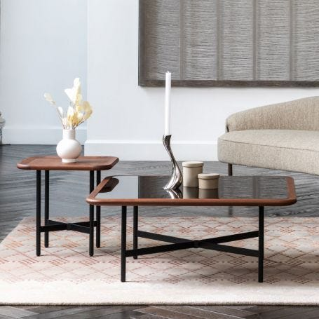 Emerson Stacked Large Square Coffee Table