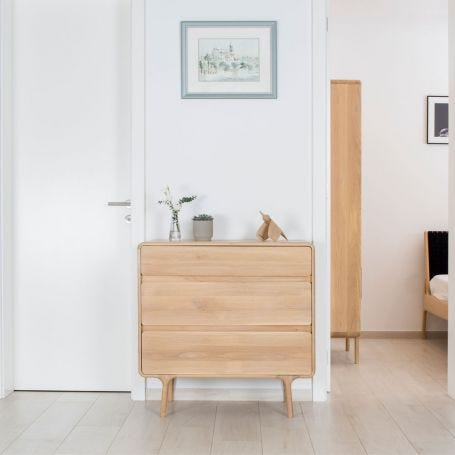 Fawn Chest of Drawers Oak