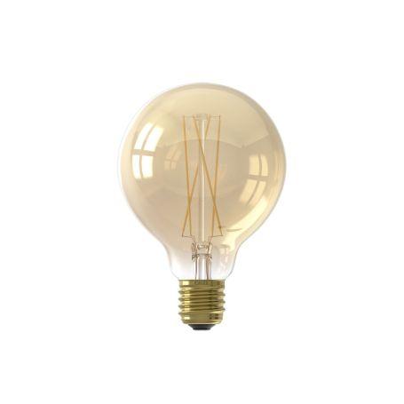 Globe Long Filament Bulb Gold Medium 6W E27 LED
