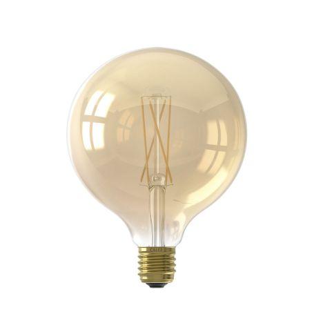 Globe Long Filament Bulb Gold Large 6W E27 LED