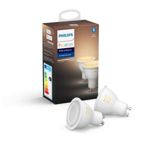 Hue Smart Bulb White Ambiance 6W GU10 LED Set of 2
