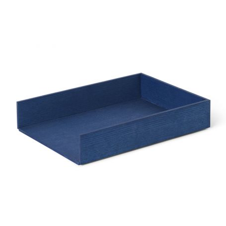 Letter Tray Blue Stained Ash