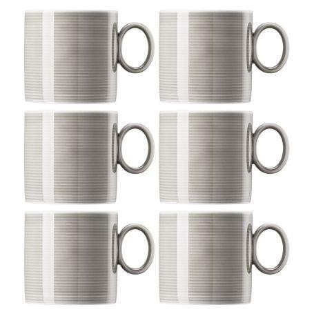 Loft Mug Set Of 6 Moon Grey
