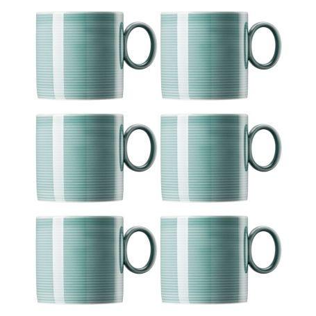 Loft Mug Set Of 6 Ice Blue