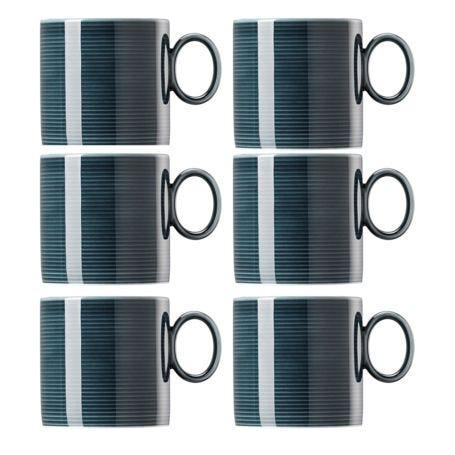 Loft Mug Set Of 6 Night Blue