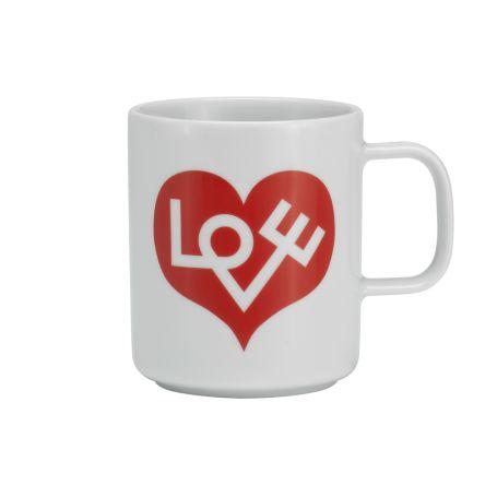 Coffee Mug Love Heart Crimson