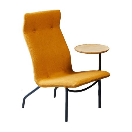 Lucio High Back Chair With Side Table