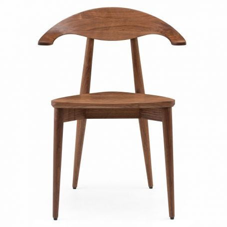 Manta Chair in Danish Oiled Walnut - Front View