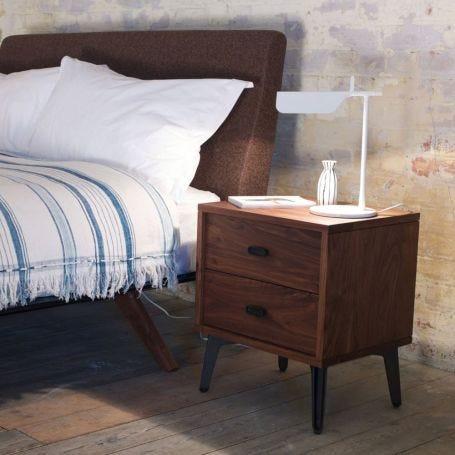 McQueen Bedside Table Walnut