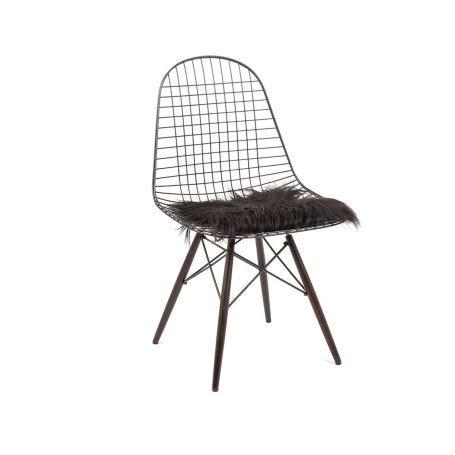 Icelandic Sheepskin Chair Pad Black
