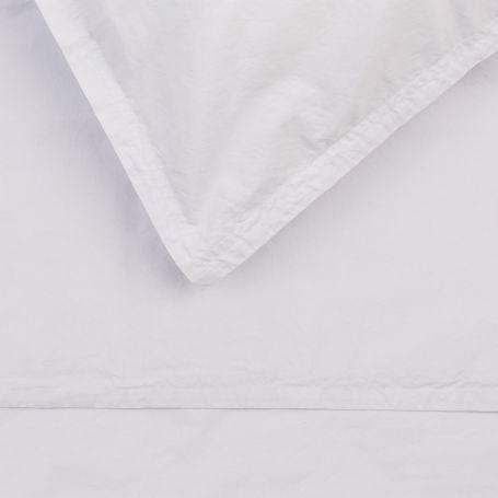 Washed Cotton Soft Grey Super King Duvet Cover